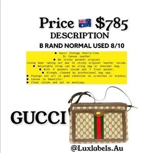 Gucci Vintage Cherry-line in Canvas Leather